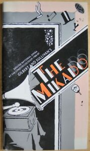 Gilbert-amp-Sullivan-039-s-The-Mikado-1988-89-ENO-Programme-Bill-Oddie-Alfred-Marks