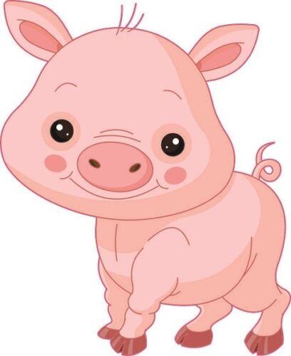 Aufkleber kleines Ferkel Schwein Autoaufkleber Konturschnitt