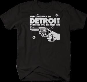 Welcome Back Detroit Pistol Revolver Missed You Tshirt