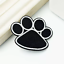 miniature 3 - Dog Pet Paw Embroidered Logo Patch Badge Iron On / Sew On Fancy Dress