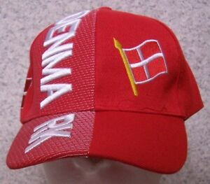 Embroidered Baseball Cap International Denmark NEW 1 hat size fits all