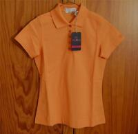 Tehama Orange Hang'em Dry Cotton Polyester Blend Golf Polo Shirt Xs