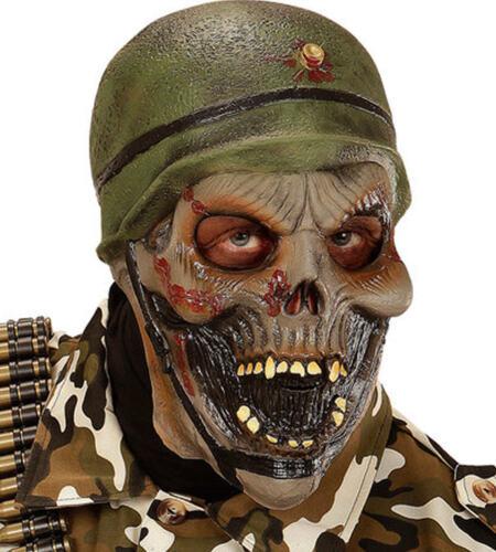 Zombie ARMY SOLDATO Lattice Maschera Spaventosa Halloween Costume Vestito