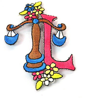CANCER STAR SIGN HOROSCOPE Embroidered Sew Iron On Cloth Patch ZODIAC  APPLIQUE