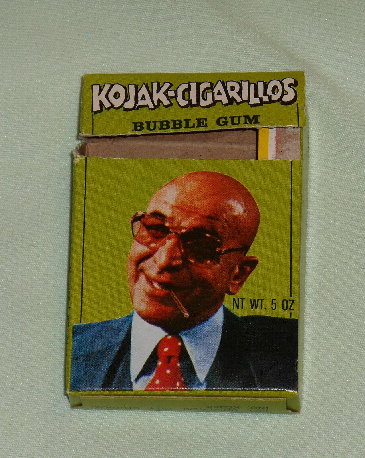Vintage KOJAK CIGARILLOS BUBBLE GUM empty box by Candygum
