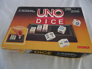 UNO-DICE-1987-Croner-Games-All-Fun-of-UNO-3-Games-INSTRUCTIONS-Included-50U