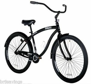Black 29 Cruiser Bike Men S Bicycle Genesis Onyx Aluminum Frame