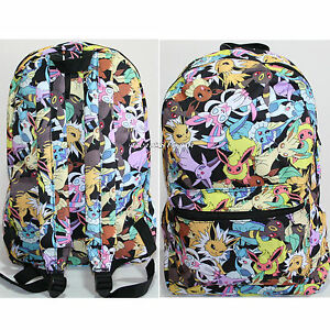 3bc5a60709 Pokemon GO EEVEE Evolutions Character All Over Toss Backpack School ...