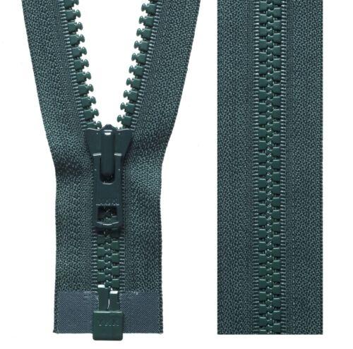 VERDE Foresta YKK Vislon Zip Estremità Aperta Pesante Heavy Duty Cappotto Zip 46cm a 81cm