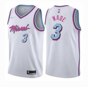 on sale 301eb 1f92d Details about #3 Dwayne Wade Miami Vice City Edition Mens Stitched Jersey  White Or Black