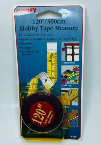 "Allary Roller Tape Measure 120/""//300cm Retractable"