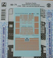 Microscale Decal N #60-71 Southern Pacific Diesel Switchers (1948-1958) Tiger St