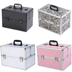 mallette cosm tique bijoux valise de maquillage en alu coffre bijoux trolley ebay. Black Bedroom Furniture Sets. Home Design Ideas