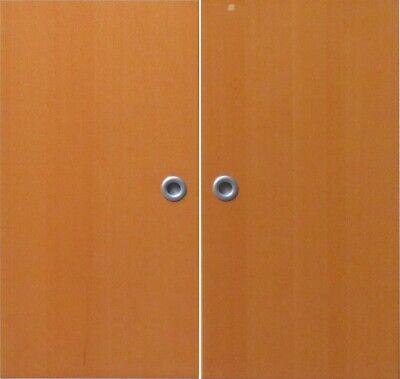 Inkl Obligatorisch Ikea Effektiv Türen paar Griff & Scharnierein Buche Dunkel 40x78cm 000.4