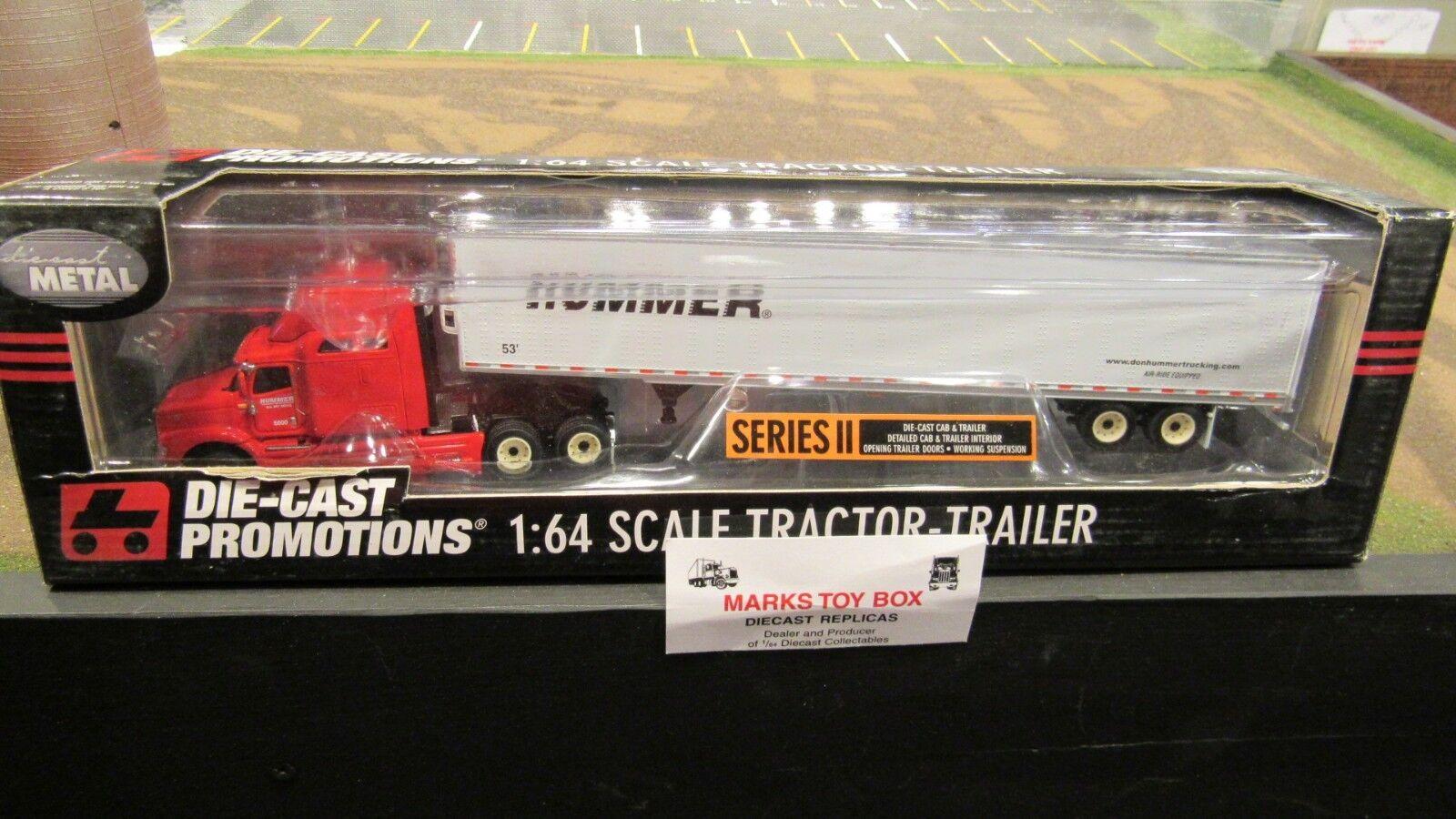 DCPno Hummer camiones ih 9400 Semi CAB camioneta Reefer Van Trailer 1 64 FC