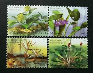 SJ-Aquatic-Plants-Of-Malaysia-2002-Flower-Nature-Pond-Flora-River-stamp-MNH