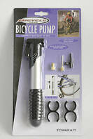 BICYCLE BIKE CYCLE TYRE MINI COMPACT HAND PUMP WITH ADAPTORS FOOTBALL BALL LILO
