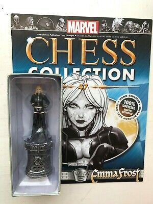 100% Vero Collezione Di Scacchi Marvel Edizione 47 Emma Frost Eaglemoss Statuetta Figura + Magazine-mostra Il Titolo Originale Vincere Elogi Calorosi Dai Clienti