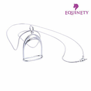 EquinEty-Simply-Sterling-Silver-Stirrup-Necklace-Horse-Jewellery-Gift-with-Bag