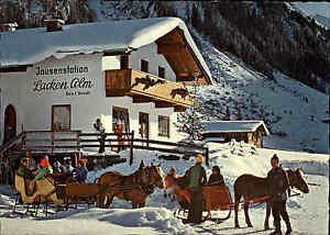 GERLOS-Osterreich-Tirol-Jausenstation-Lacken-Alm-Schlitten-Fahrt-mit-Pferden