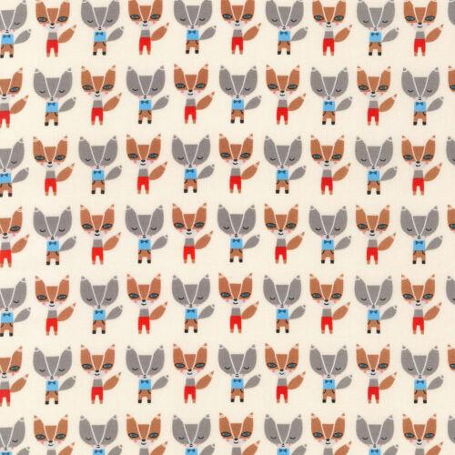 Robert Kaufman Patchwork Fabric Mini Fox Natural Per 1//4 Metre