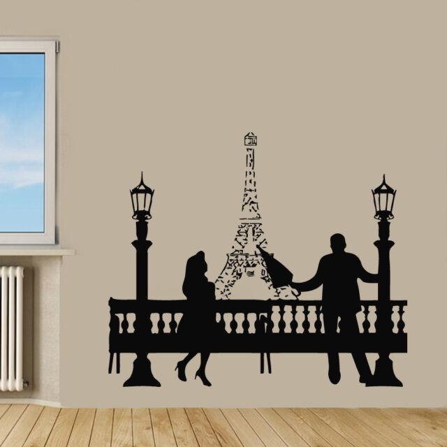 Wall Decals Vinyl Decal Sticker Art Murals Love Decor Paris Eiffel Tower Kj420