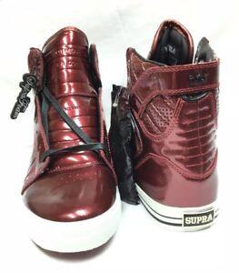 63374a9aae Supra Footwear Mens 10 Skytop NS Burgandy Patent Exclusives NIB   eBay