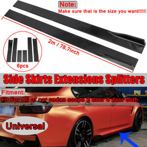 For-Audi-A3-8P-A4-B8-A5-A6-S3-S4-TT-8J-Side-Skirts-Extensions-Rocker-Splitter-2M