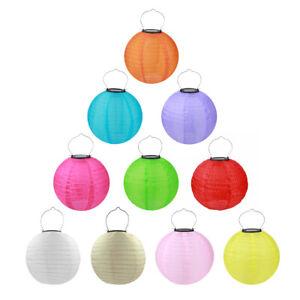 Solaire-LED-Lampion-Multicolore-Rond-Exterieur-Chaine-Partie-Jardin-20-30cm