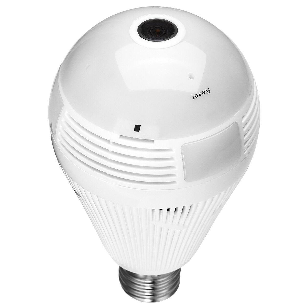 1080P Mini Security IP Camera 360° Panoramic SPY Hidden Wifi Wireless Light Bulb 12