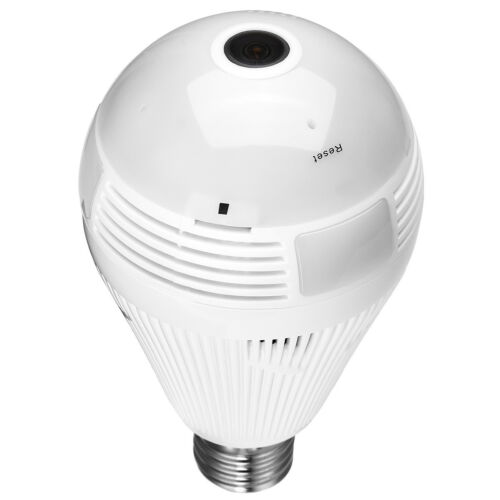 Mini Spy Hidden Security IP Camera 360° Panoramic 1080P Wifi Wireless Light Bulb