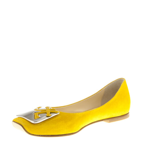 Yellow Flats 11 6 Fabi Sizes New Italian Designer Leather Authentic x7gUzU