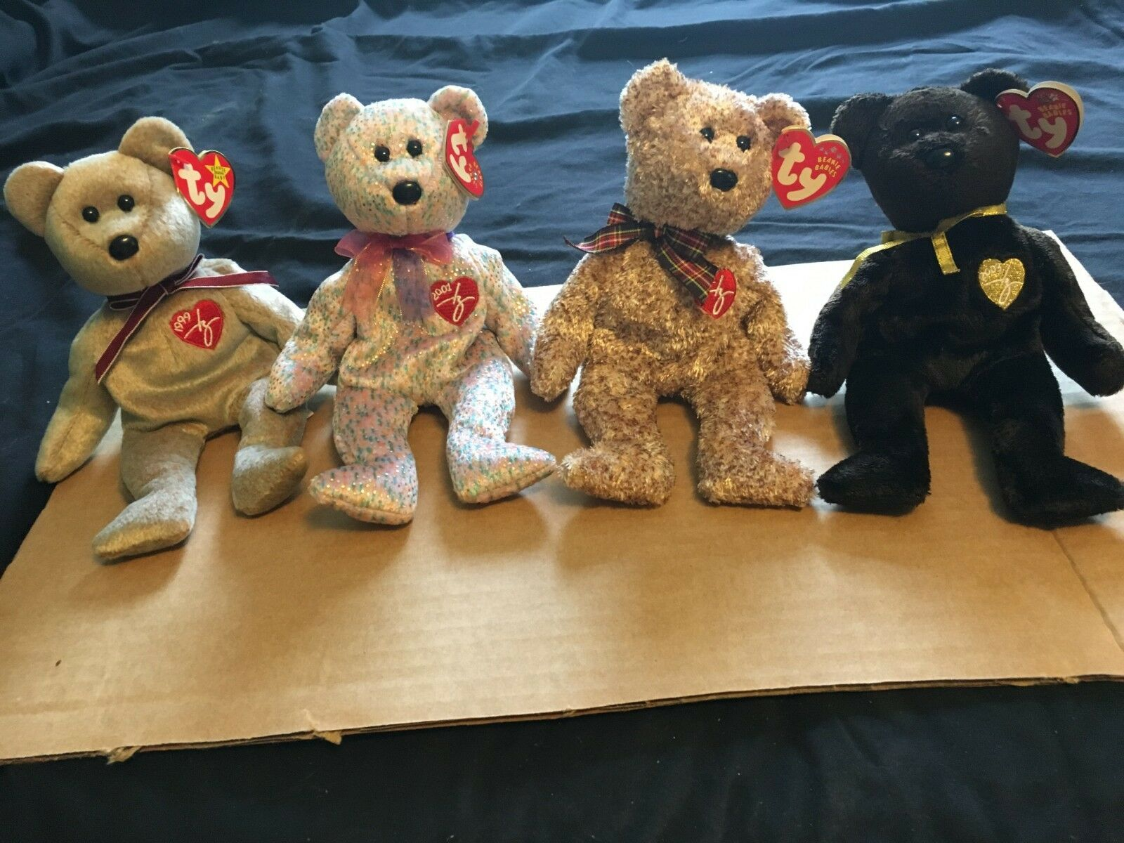 TY Beanie Baby Signature Bears, Mint Condition, Includes 1999