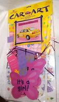 Car Decorating Kit It's A Girl Auto Flag Magnet Window Decorations