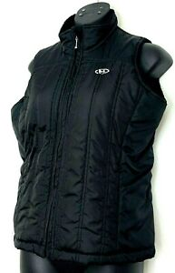 Marker-Womens-Puffer-Vest-Black-Sleeveless-Coat-Faux-Fur-Lined-Zip-Up-Size-S
