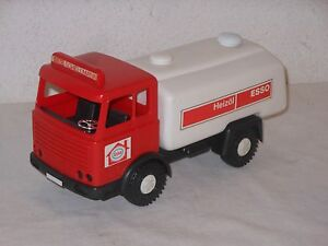 SCANIA-ESSO-Rojo-Camion-Cisterna-28-cm-VINTAGE-TOY-Wader-WEST-ALEMANIA