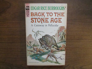 Back To The Stone Age Edgar Rice Burroughs Ace F 245 Sci border=