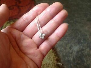 2-Ct-Princess-Cut-Diamond-Solitaire-Pendant-Necklace-Solid-925-Sterling-Silver