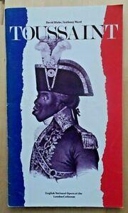Toussaint programme English National Opera ENO 1983 Neil Howlett Stefan Kalipha