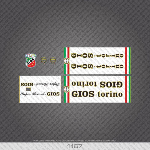 Decals 01167 Gios Super Record Bicycle Stickers Transfers