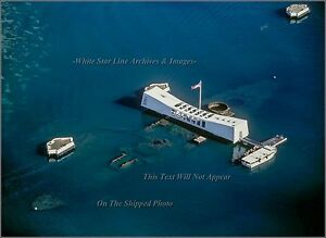 Details About Photo Aerial Pearl Harbor The Uss Arizona Memorial View 2