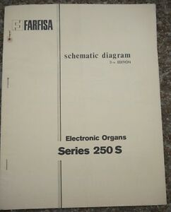 Farfisa-Electronic-Organ-3nd-edition-Schematic-Diagrams-Series-250-S