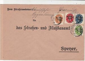 Germany 1921  Oggersheim Multiple Cancel & Official Stamps Cover ref 22935