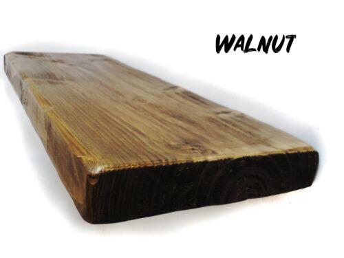 Rustic Floating Shelves Wooden Shelf Chunky Handmade Bespoke Wood with brackets