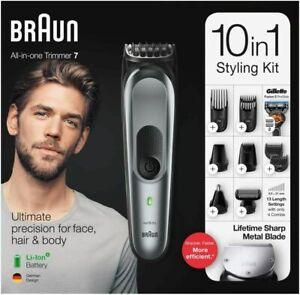 Braun-All-In-One-Trimmer-7-MGK7221-Barbero-Cortapelos-10-en-1-con-13-Posiciones