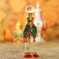 Vintage Golden Empty Refillable Metal Glass Perfume Bottle Stopper Home Decor