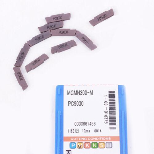 10 Tlg MGMN300-M Carbide Wendeplatten 3mm Width Für MGEHR MGIVR Grooving