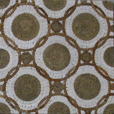 Circular Mosaic Pattern Field Tiles Kitchen Backsplash Marble Mosaic HF17