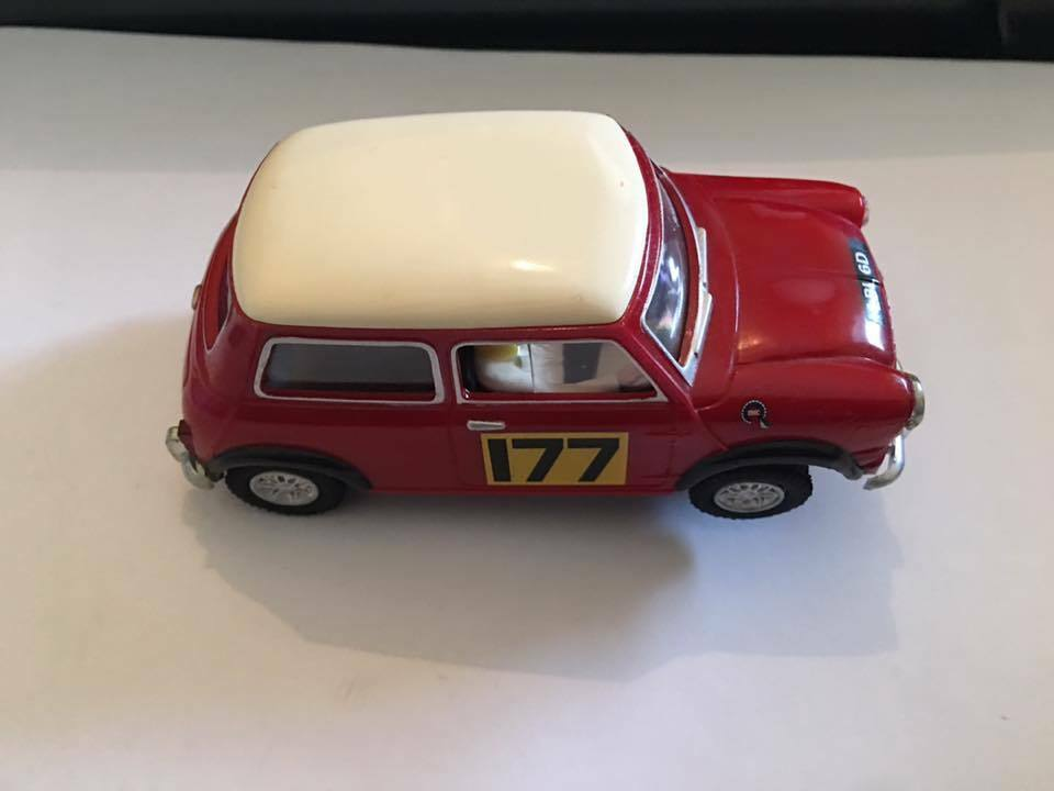 Scalextric Mini Cooper Altaya Red Body White Roof