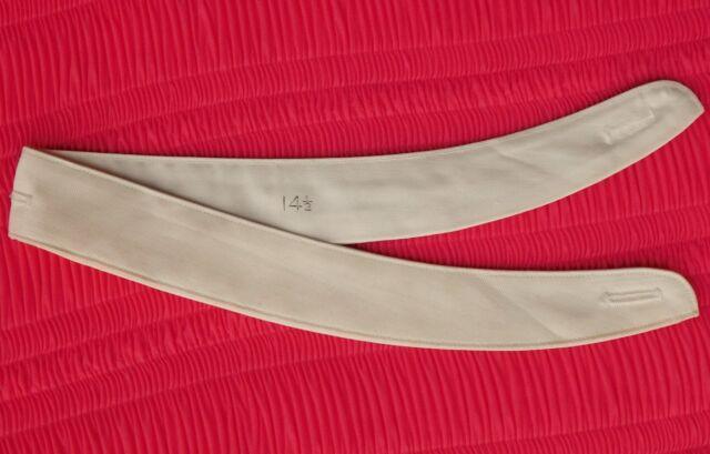 Vintage sew-on neckband for grandad collar-less tunic shirt size 14.5 UNUSED